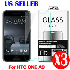3X 9H 0.3MM Real Premium Tempered Glass Screen Protector Film For HTC ONE A9