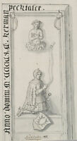 Epitaph des Herman Pechtaler zu Pechtal, um 1700, Zeichnung, Aquarell