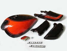 1973 kawasaki z1 PAINTED BODY WORK SET gas tank, tail cowl, side covers fuel cap