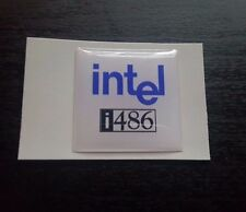 "Intel i486 80486 Logo Domed Case Sticker/Badge (25mm x 25mm / 1""x1"")"