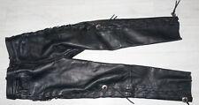 Pantalon cuir moto style Biker noir T44 marque Dafy parfait état