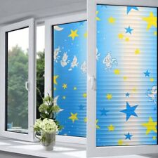 Window Glass Protection Film Frosted Waterproof Stars and Moon Toilet Toilet