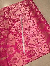 "Damask Brocade Fuchsia/ B. Pink Gold Metallic In a Jacquard 60"" By The Yard"