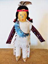 VINTAGE Tuscarora IROQUOIS Indian NY Native American BEADED Leather DOLL #1