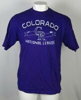 Colorado Rockies MLB Men's Purple Short Sleeve T-Shirt Majestic
