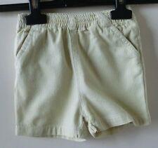 Gelb/weiß gestreifte kurze Hose mit Gummizugbund und Taschen Gr. 68