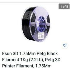 Esun 3D 1.75Mm Petg Black Filament 1Kg (2.2Lb), Petg 3D Printer Filament, 1.75Mm