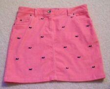 Vineyard Vines Womens Size 4 Pink Corduroy Whale Pattern Skirt