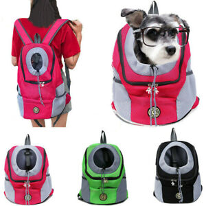 Portable Pet Dog Carrier Puppy Travel Mesh Backpack Front Travel Shoulder Bag UK
