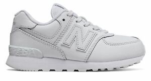 New Balance Kid's 574 Little Kids Male Shoes White