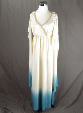Halloween Greek Goddess Egyptian Costume Full Length Unisex Cosplay Cream Blue