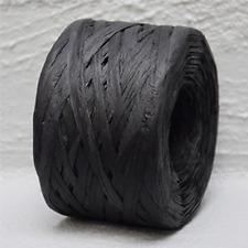 Paper Raffia Black 4mm Wide 100 metres