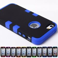 IMPACT HARD SOFT RUBBER HYBRID Armor case cover skin for iphone 5 5G 5S