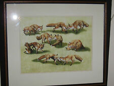 Daphne Baxter, Original Artwork, Fox Cubs, Hunting Art, Foxs at Play, Nature Art