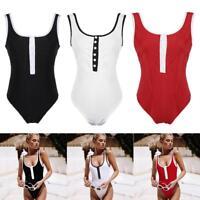 Women One-Piece Swimsuit Bandage Bikini Push-up Backless Bathing Beach Swimwear