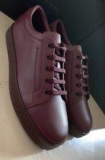 NIB $740 Bottega Veneta Men Leather Sneakers Shoes Burgundy 8.5 US ( 41.5 Eu )