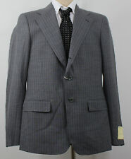 RRL Double RL Ralph Lauren Sport Coat Suit Jacket 40 R Gray Pinstripe