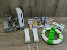 Nintendo Wii White Console Bundle, controllers, games (#92)