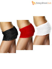 Ladies Ruffle Frilly Pants Adult Burlesque Knickers Shorts Fancy Dress Accessory
