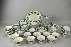 Wedgwood Napoleon Ivy Patterned Tea Cups Saucer Serving Plate Set of 121