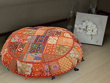 "32"" Inch Round Floor Pillow Case Vintage Patchwork Bohemian Indian Cushion Cover"