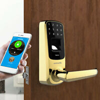 Ultraloq UL3-BT Bluetooth Fingerprint and Touchscreen Smart Lock (Brass)