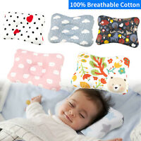 Cotton Baby Infant Head Shaping Pillow Newborn Anti Flat Sleeping Support Pillow