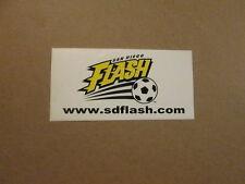 NPSL San Diego Flash Vintage Logo Bumper Sticker #2