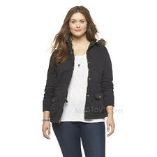 49bb7bae08a5f NWT Mossimo Supply Co. Plus Size Hooded Quilted Parka Jacket in Black XL TG