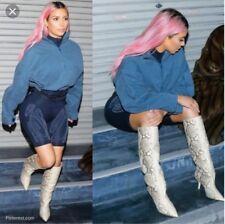Vicini By Zanotti Real Python Snakeskin Brown Natural Boots Kardashian 35 5 Used
