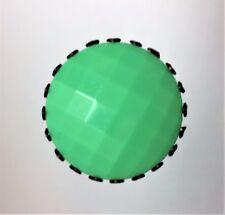 FABULOUS JADEITE GREEN BEVELED GLASS HATPIN