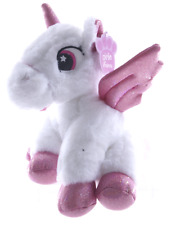"NEW 9"" SITTING UNICORN PLUSH SOFT TOYS CUDDLY HORSE TEDDY WHITE UNICORN"