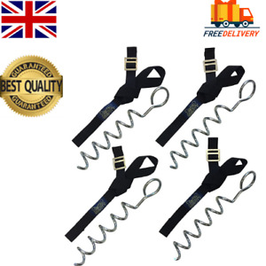 Trampoline Tie Down Anchor Kit Heavy Duty Strong Galvanised Safety Strap Peg,NEW