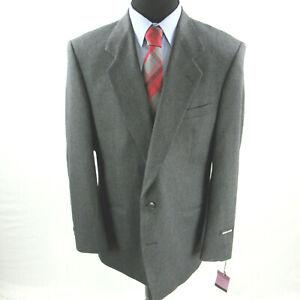 $295 Pierre Cardin Herringbone Grey Sport Coat Mens 46L 46 Made USA NEW