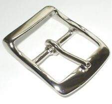 1.5 INCH  - 38MM SOLID BRASS  NICKEL PLATED FULL BELT BUCKLE WITH RECESSED BAR
