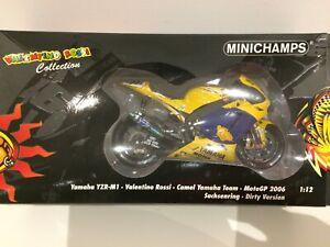 MINICHAMPS 1/12 YAMAHA YZR-M1 VALENTINO ROSSI MOTO GP 2006 CAMEL 122063096