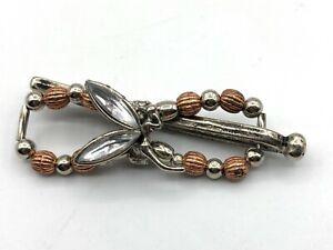 Lilla Rose Flexi8 Hair Clip -Silver +Copper -Fairy -MINI (#2396)