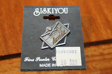 VINTAGE ASTROS  SISKIYOU DIAMOND SQUARE SHAPED PEWTER LAPEL PIN NEW