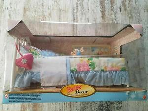 Vintage - Barbie - Decor Collection Bed & Cat - Lit - Mattel 1998 #20809 NRFB