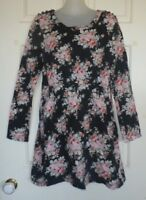 UNBRANDED Size 8 Black Pretty Floral Empire Waist Dress