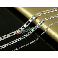 Figaro Chain Necklace - 925 Sterling Silver Stamp - from 16 to 30 inch