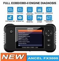 Ancel Automotive OBD2 Scanner SRS ABS SAS EPB Engine Oil Reset Diagnostic Tool