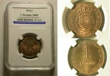 Mozambique 1 Escudo 1945 MS 63