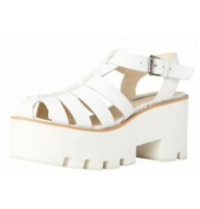 Windsor Smith Fluffy White Platform Sandal Shoes 6.5