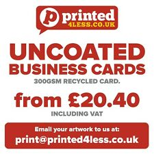 UNCOATED BUSINESS CARDS 300GSM LOYALTY CARDS WRITEABLE FLYERS FLIER RECYCLED