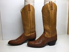VTG WOMENS DAN POST COWBOY LIZARD SKIN BROWN BOOTS SIZE 7 A