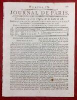 Corte en 1791 Corse Bastia Buttafuco Rare Journal Révolution Française Paris