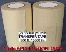 2 Rolls 6 Application Transfer Paper Tape 300 Ft For Vinyl Cutter Plotter New