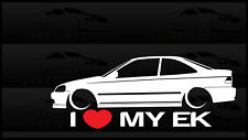 I Heart My EK Sticker Love Slammed Low JDM Civic Coupe Japan Honda Static Bagged
