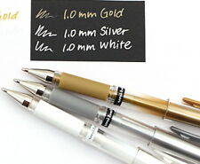 3 x UNI-BALL SIGNO impact White,Gold,Silver Gel Pen Pigment Ink 1.0mm